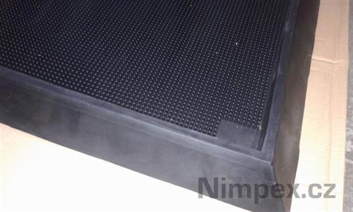 Hygienická dezinfekční rohož, 98x81 cm, v. 47 mm, černá