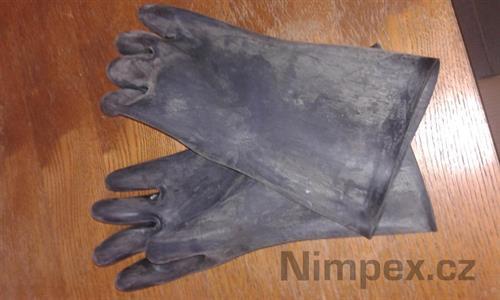 Rukavice gumové technické 350/1,5 černé