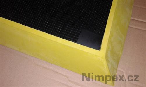 Hygienická dezinfekční rohož, 98x81 cm, v. 47 mm, černo/žlutá