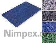 Čistící rohož NUDEL 150x90 cm, modrá