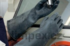 Rukavice gumové Orion 440/1,1 mm, černé