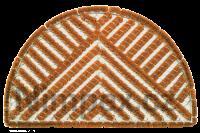 Rohož kokosová-drátěná 70x40 cm, půlkruh